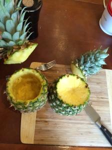 Empty pineapple