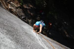 Julie Climbing