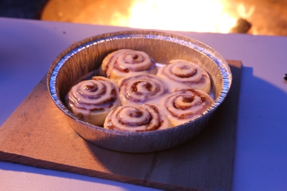 Cinnamon Buns on the BBQ