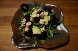 Arugula Beet Salad with Goat Cheese