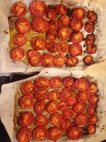 Roasted Tomatoes on Pans