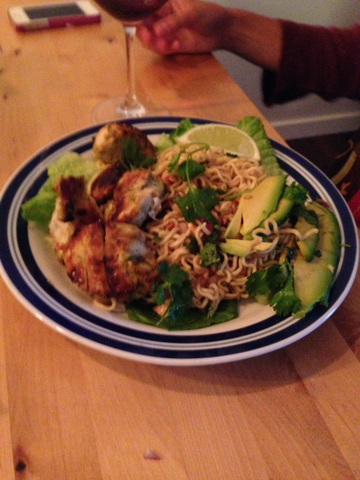 Girl S Night Jamie Oliver S Chicken Skewers Satay Sauce And Fiery Noodle Salad Julie S Kitchen Adventures